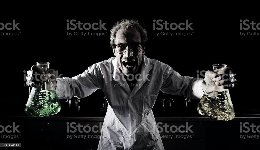 Mad Scientist stock photo