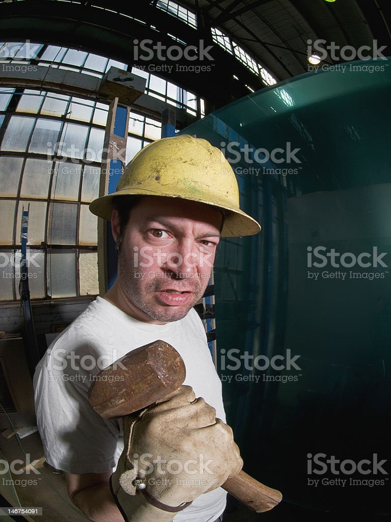 Mad Worker stock photo