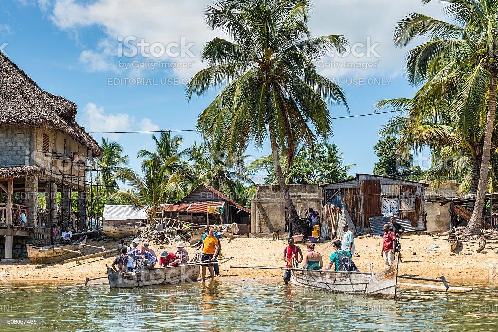 Madagascar Fishing Village stock photo