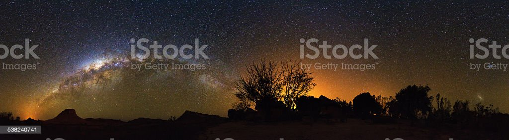 Madagascar Milky Way stock photo