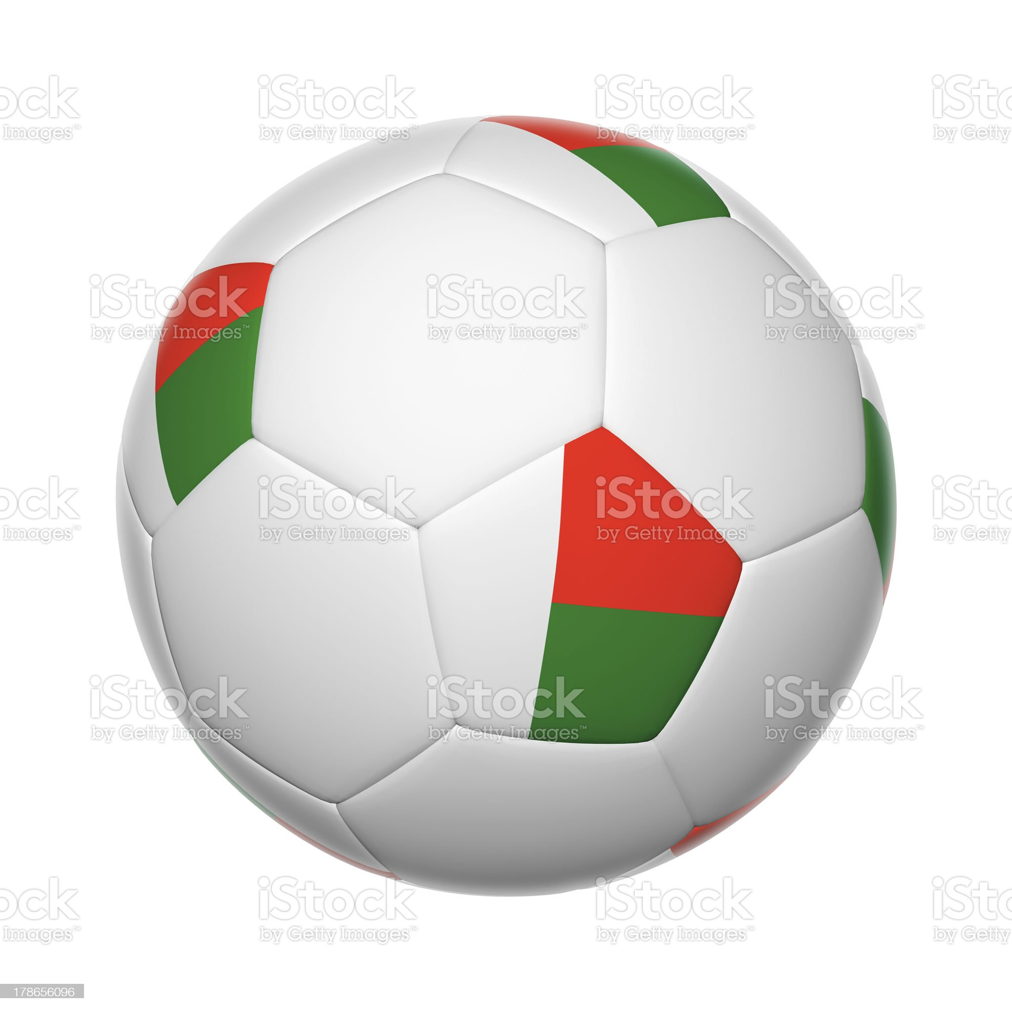 Madagascar soccer ball royalty-free stock photo