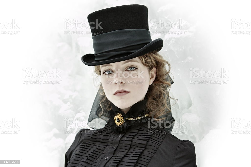 Madam in the cylinder royalty-free stock photo
