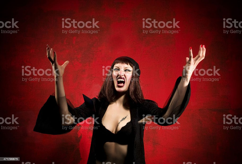 Madame Noir royalty-free stock photo