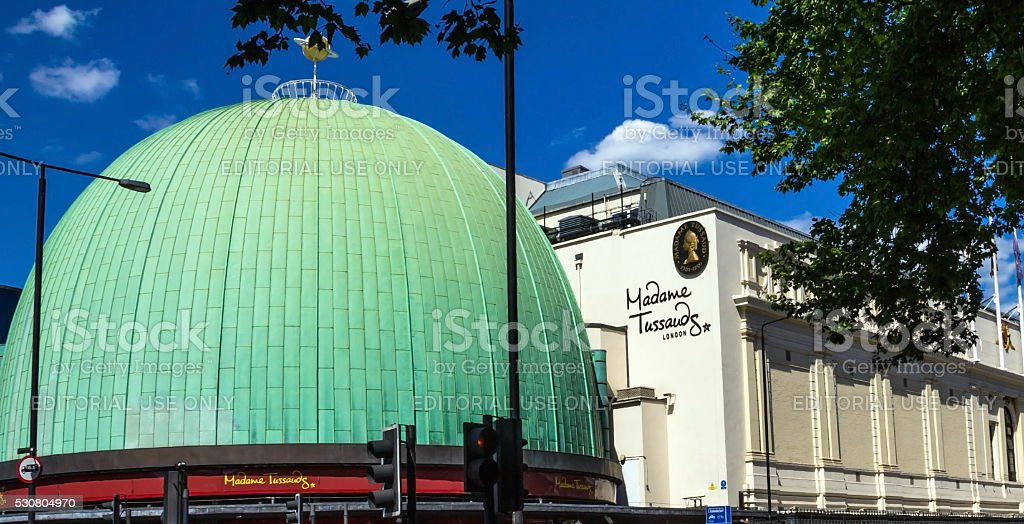 Madame Tussauds museum in London. stock photo