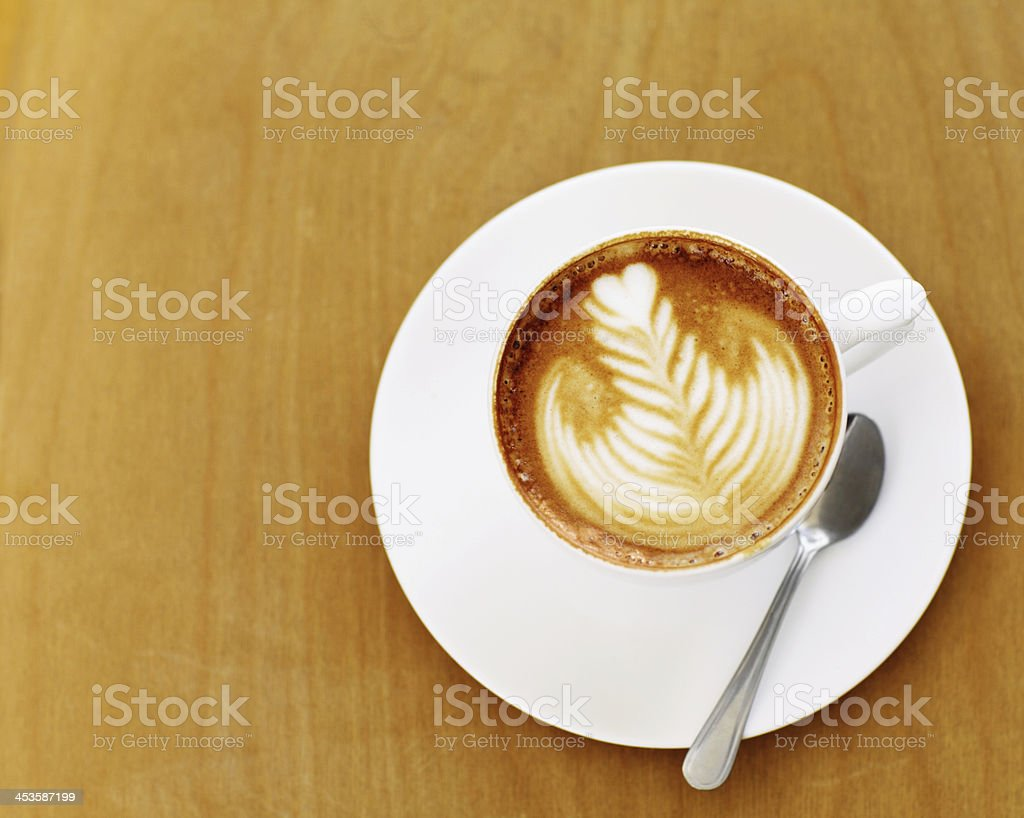 Made by an skilled barista royalty-free stock photo
