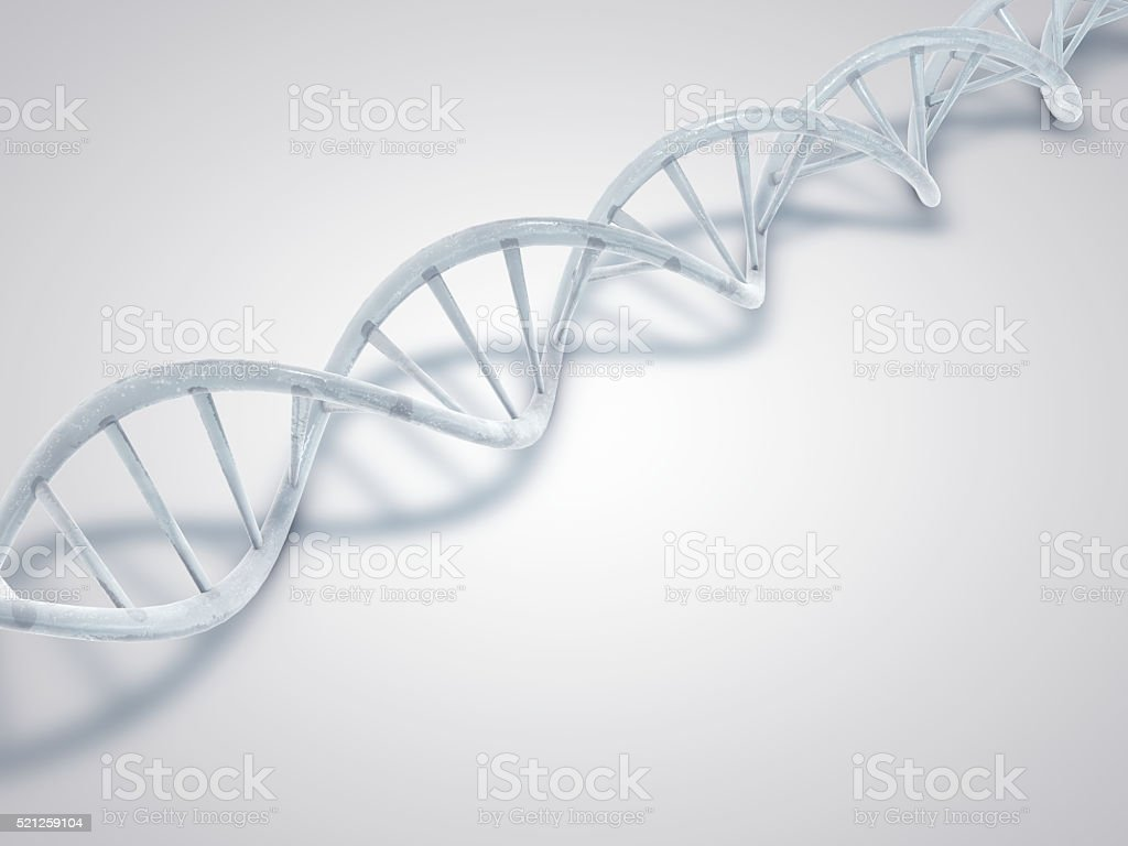 DNA made from ice. stock photo