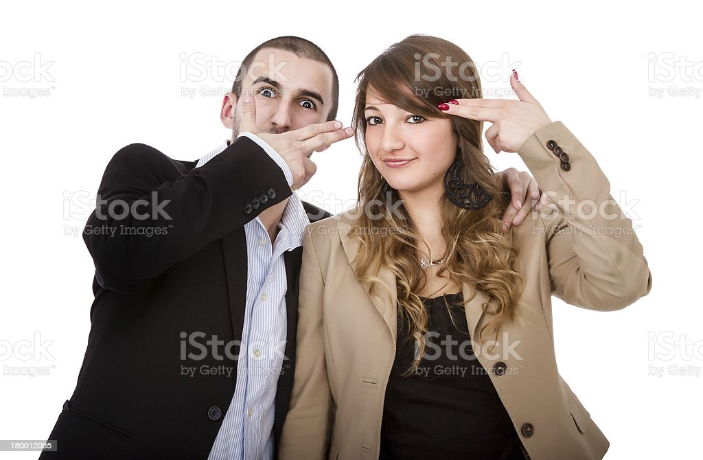 made gun with fingers royalty-free stock photo