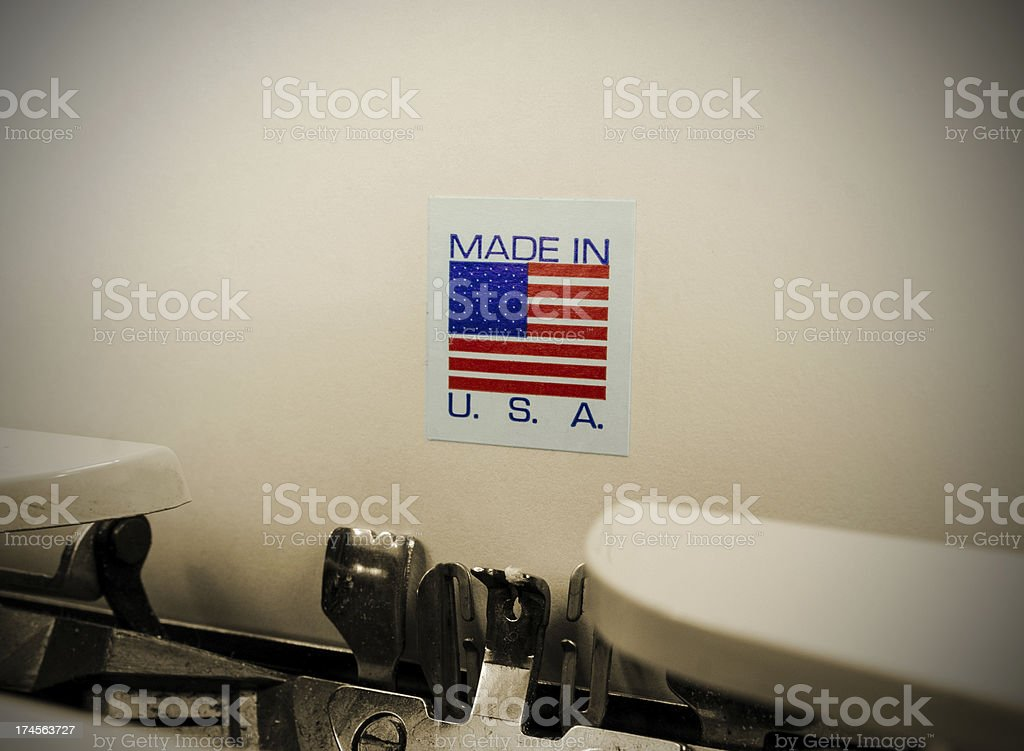 Made in America royalty-free stock photo