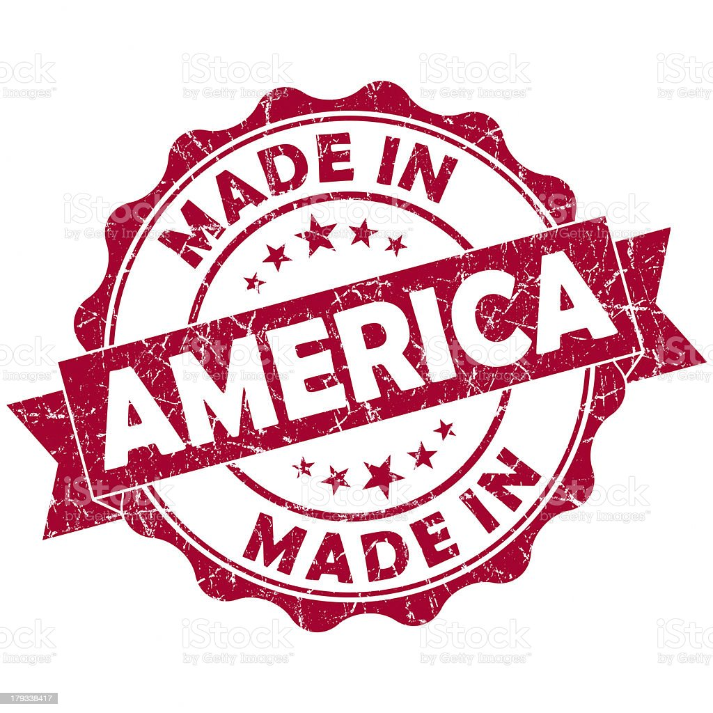 made in america stamp stock photo