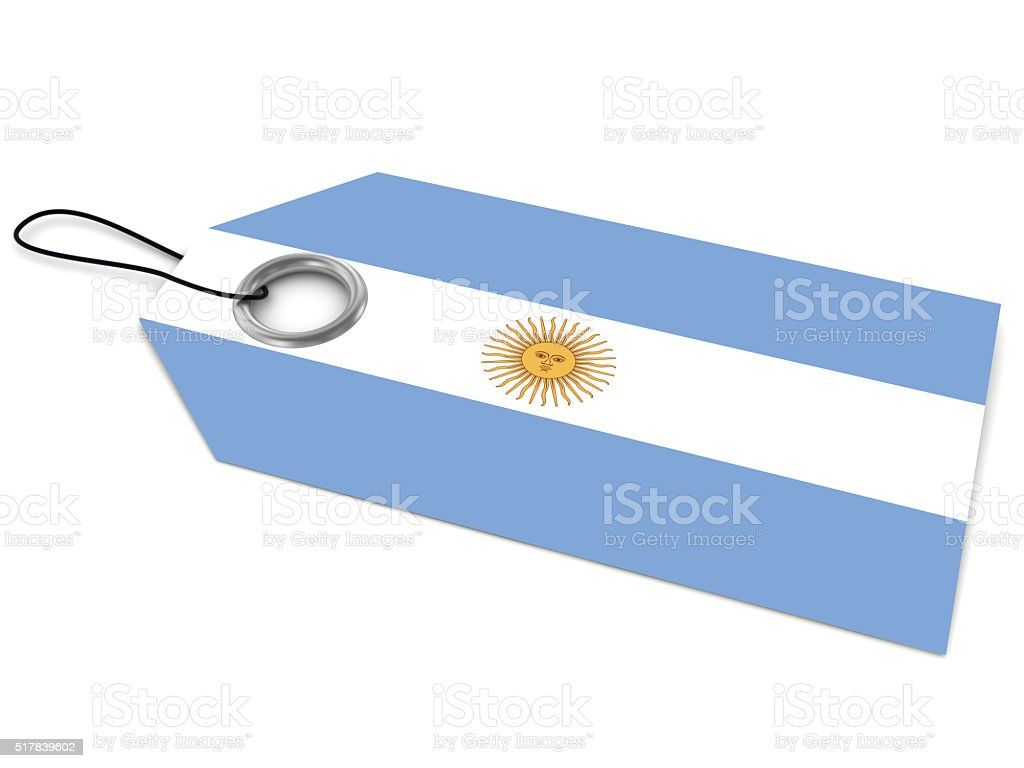 Made in Argentina price tag stock photo