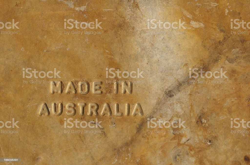 Made in Australia royalty-free stock photo