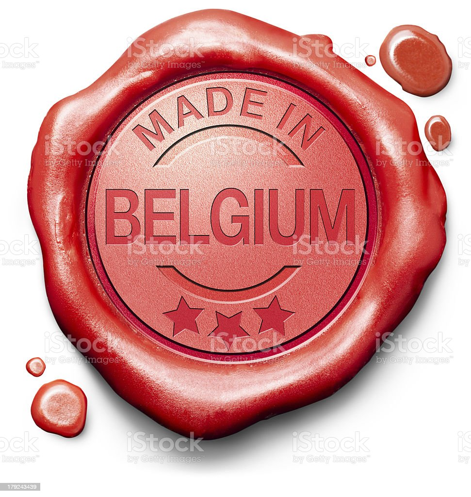 made in Belgium royalty-free stock photo