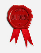 Made in California Wax Stamp
