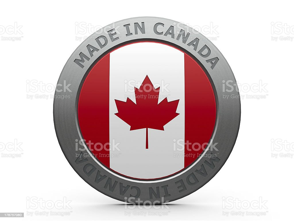 Made in Canada stock photo