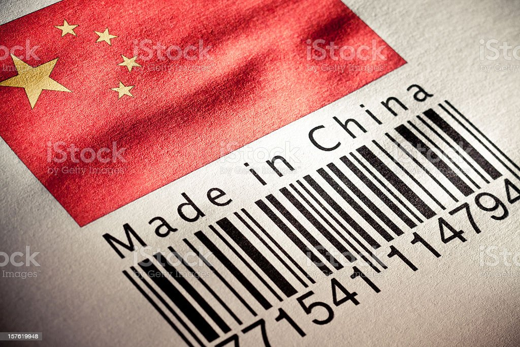 Made in China product's barcode royalty-free stock photo