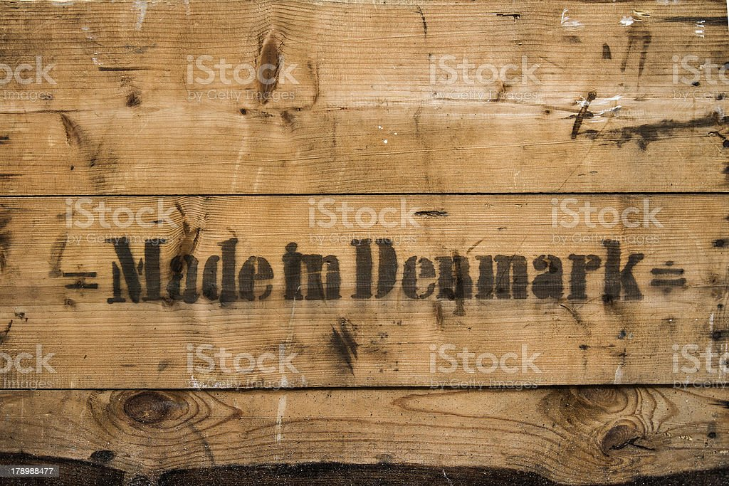 Made in Denmark royalty-free stock photo