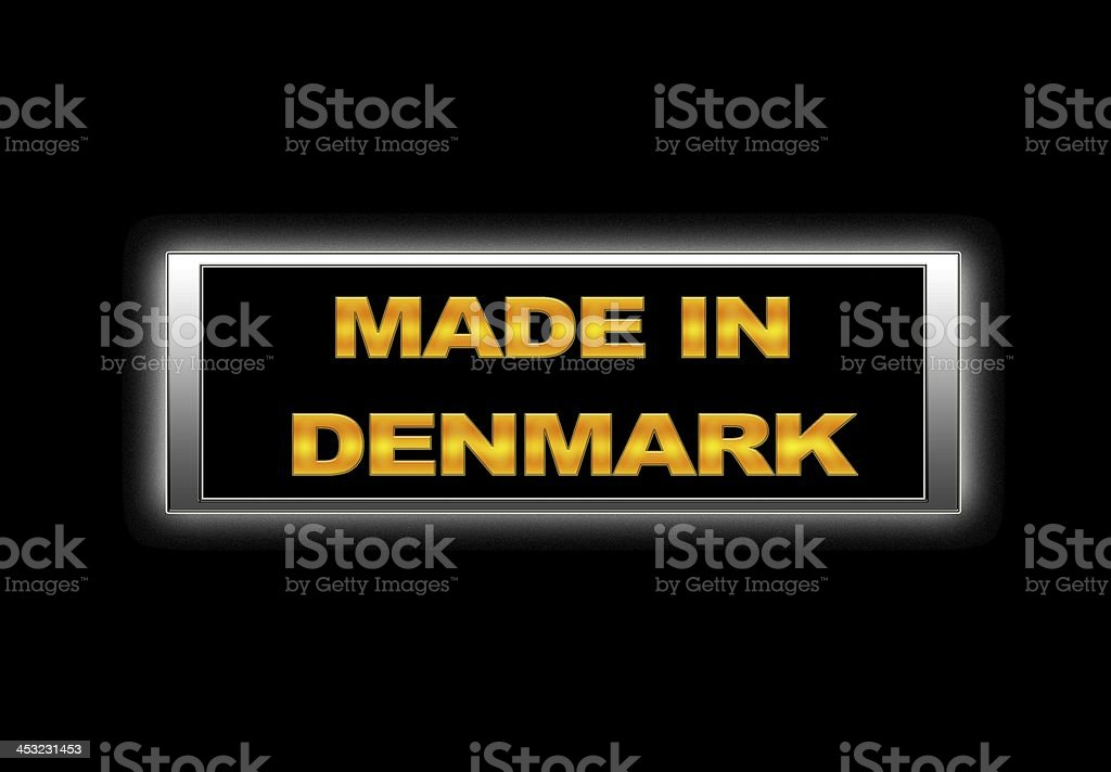Made in Denmark. stock photo