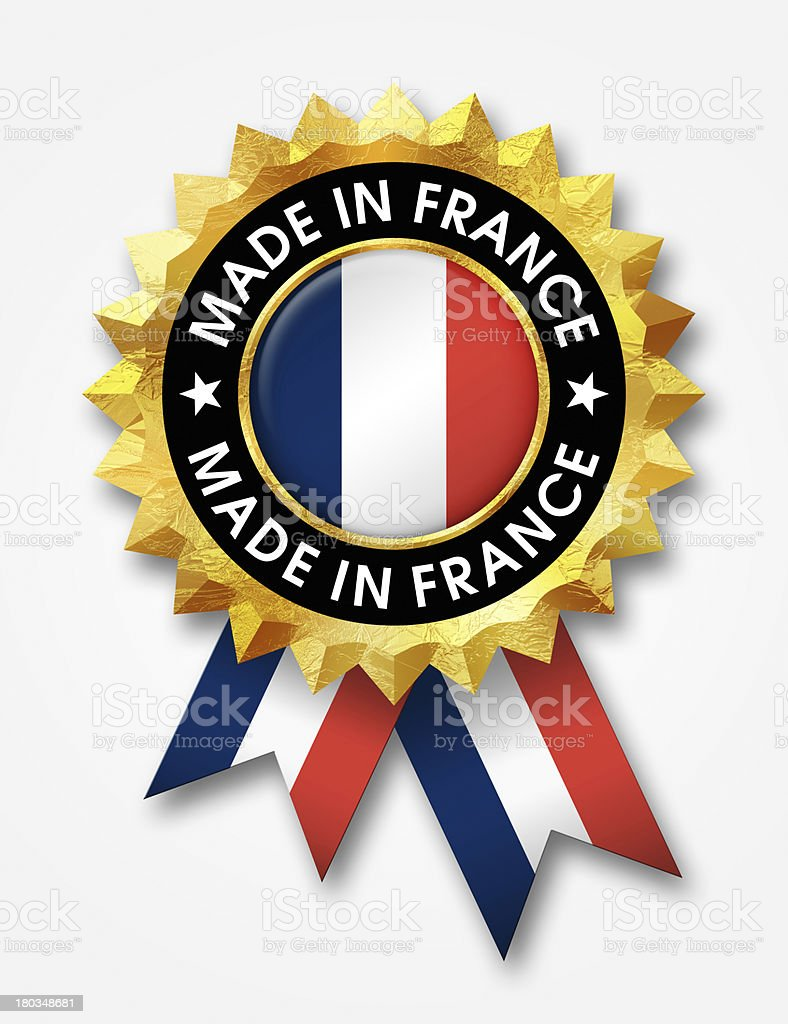 made in france badge royalty-free stock photo