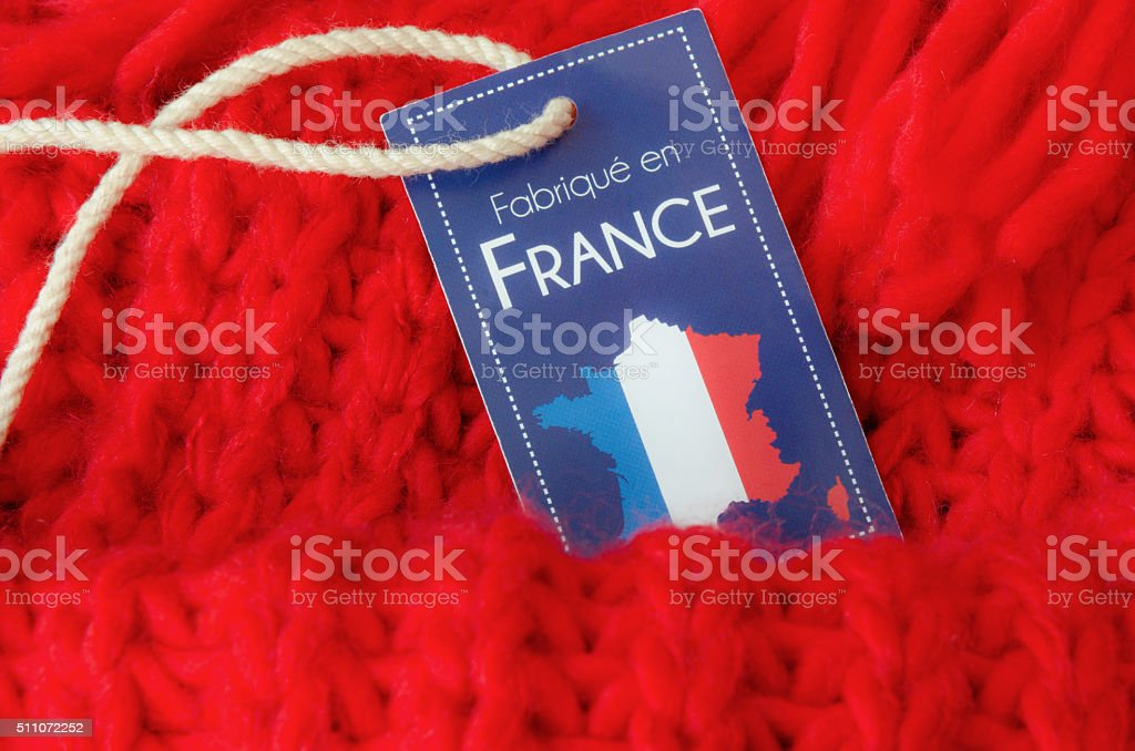 Made in France label stock photo