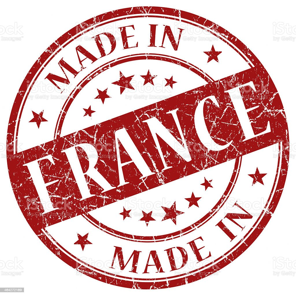 Made In France red stamp royalty-free stock photo