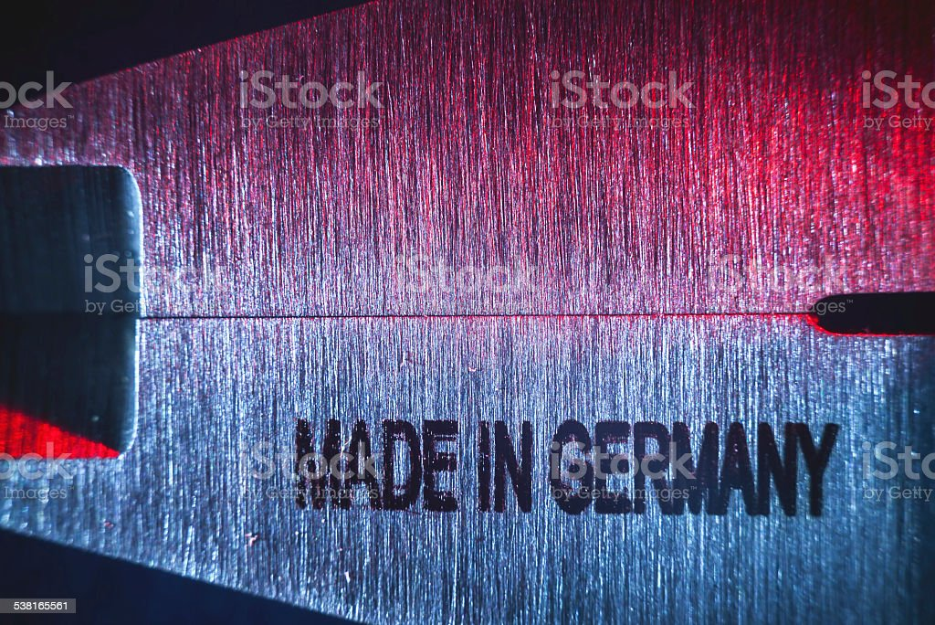 Made in Germany stock photo