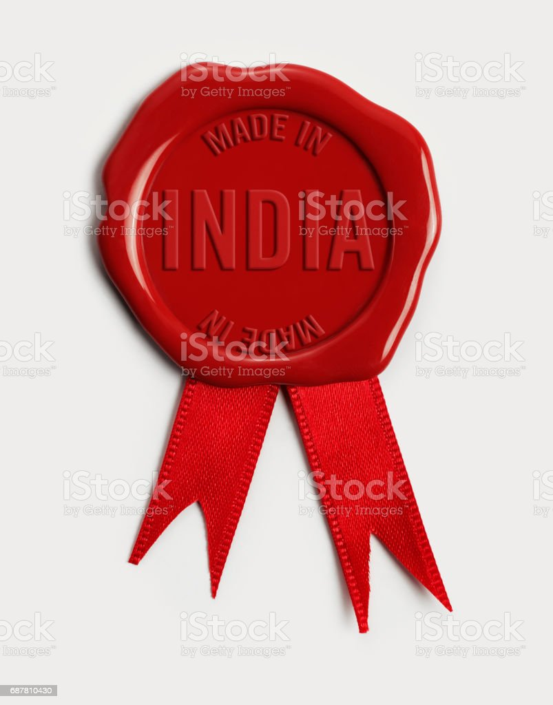Made in India stock photo