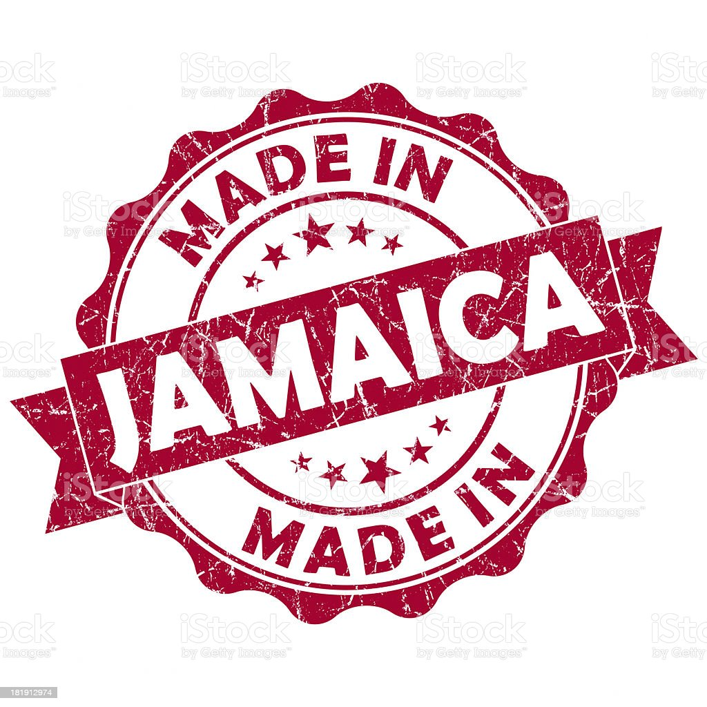 made in Jamaica stamp royalty-free stock photo