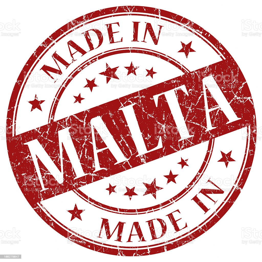 made in malta red stamp royalty-free stock photo