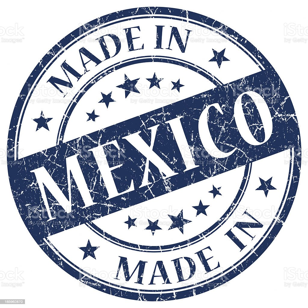 made in Mexico grunge stamp royalty-free stock photo