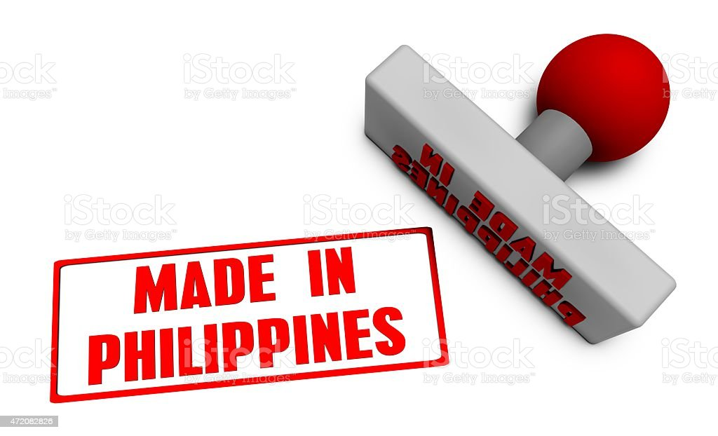 Made in Philippines Stamp stock photo