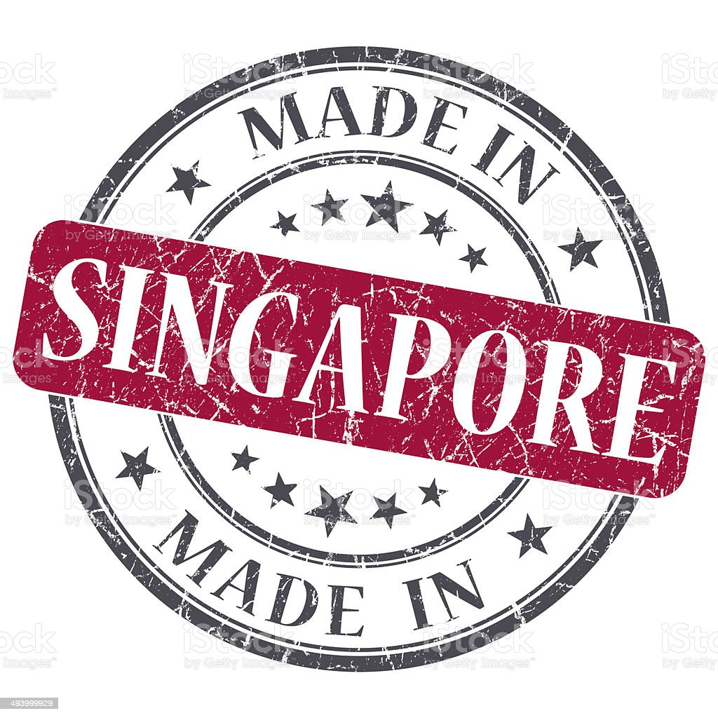 made in SINGAPORE red grunge stamp isolated on white background stock photo