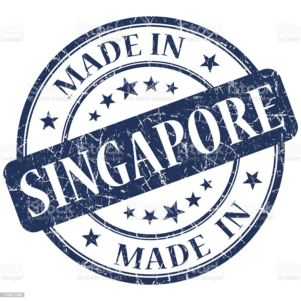 made in singapore stamp stock photo