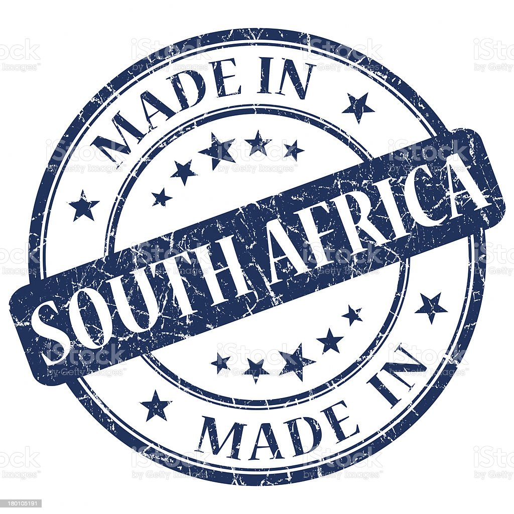 made in south africa stamp royalty-free stock photo