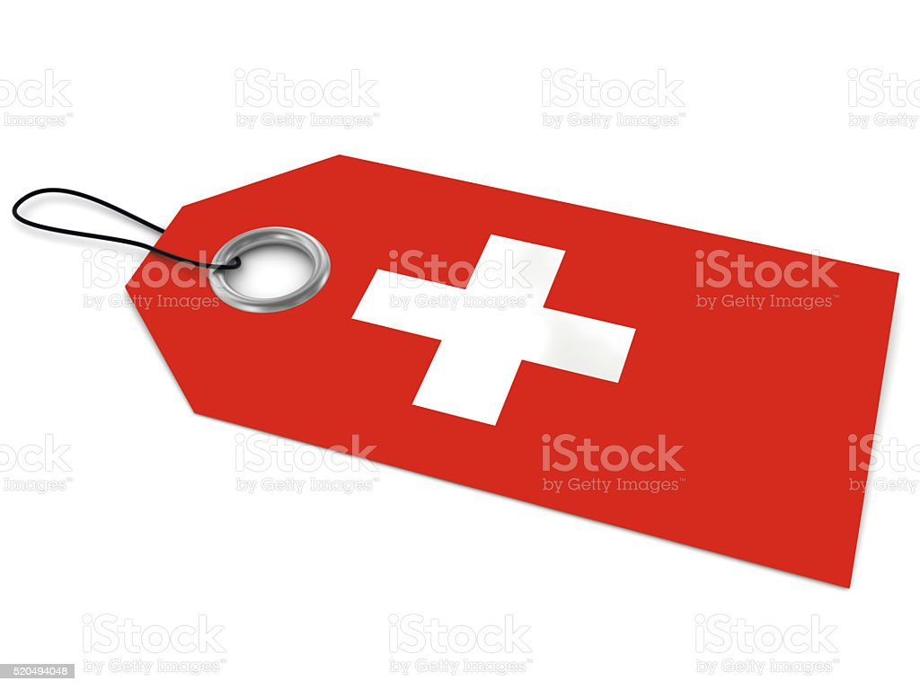Made in Swiss stock photo