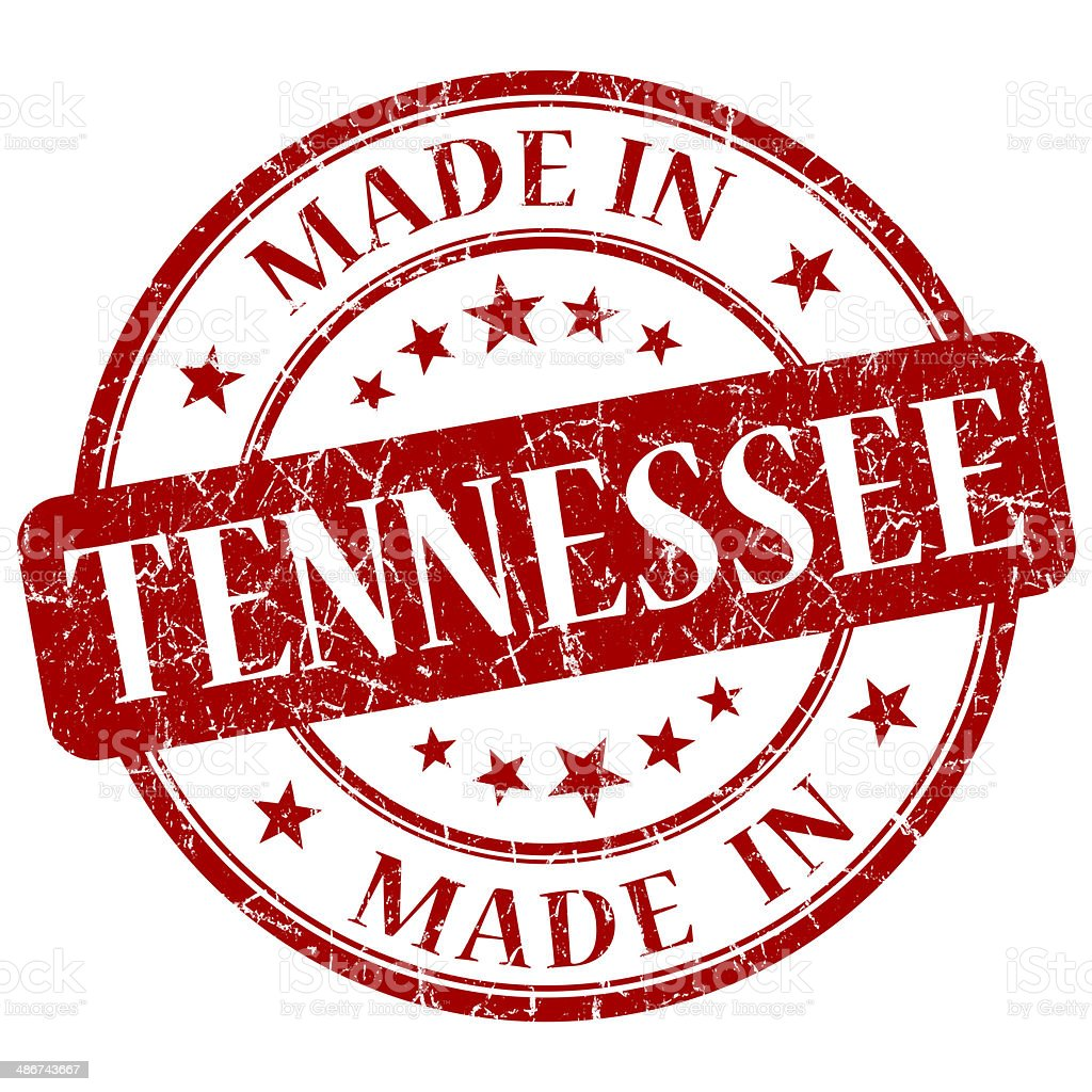 made in Tennessee red round grunge isolated stamp stock photo