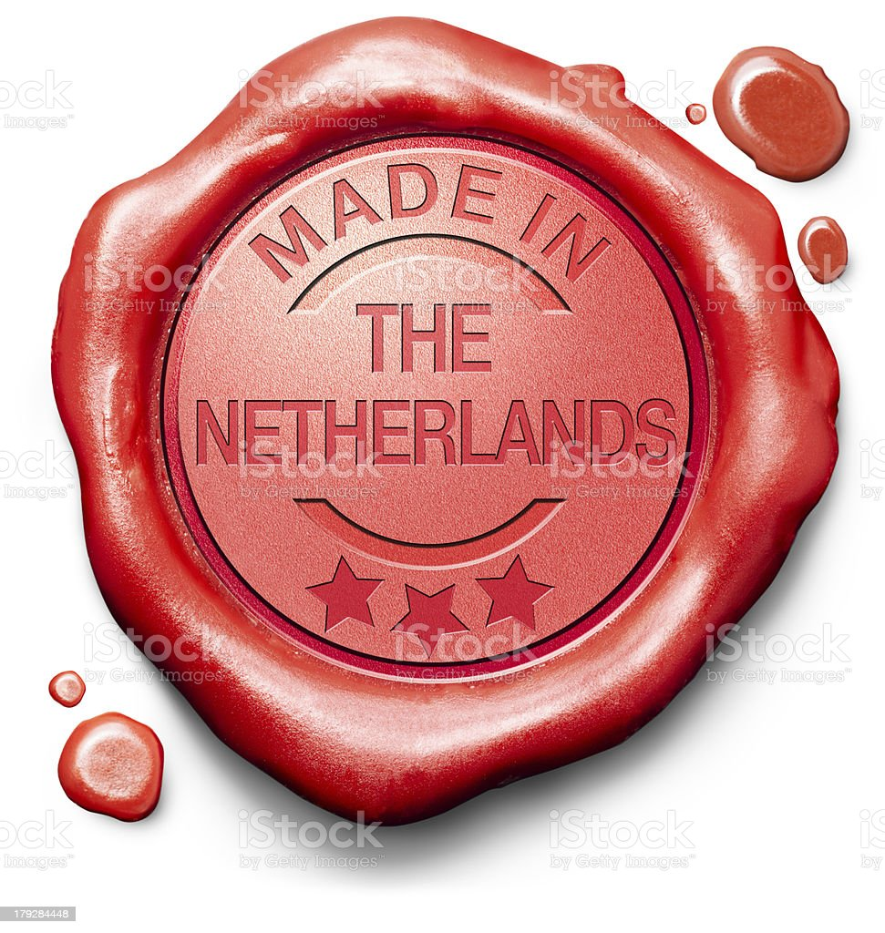 made in The Netherlands royalty-free stock photo