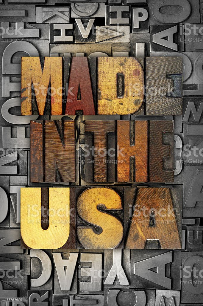 Made in the USA royalty-free stock photo