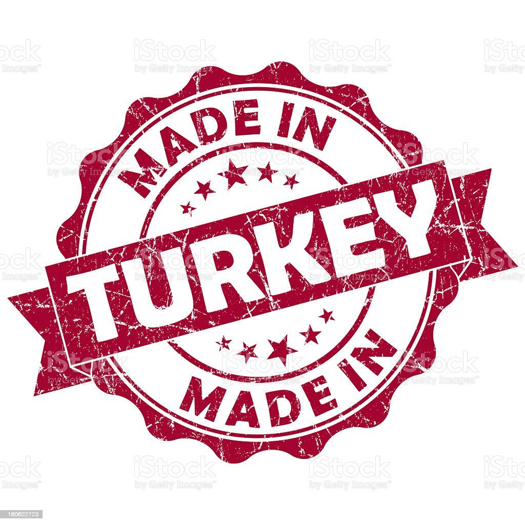 made in turkey red stamp royalty-free stock photo