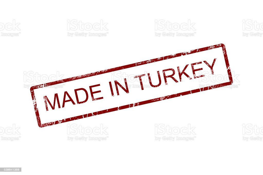 made in turkey stamp on white background. stock photo