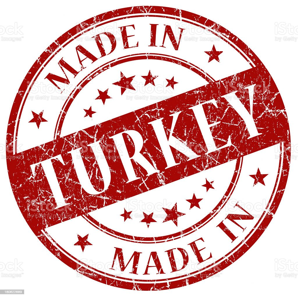 made in turkey stamp royalty-free stock photo