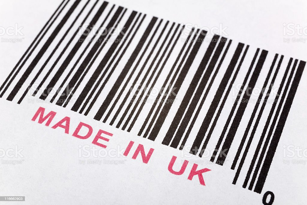 Made in UK stock photo