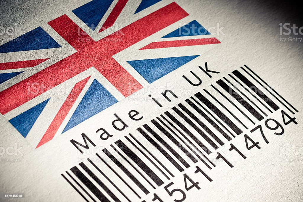 Made in UK product's barcode royalty-free stock photo