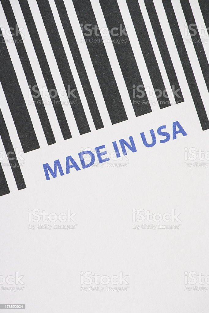 Made in USA Barcode royalty-free stock photo