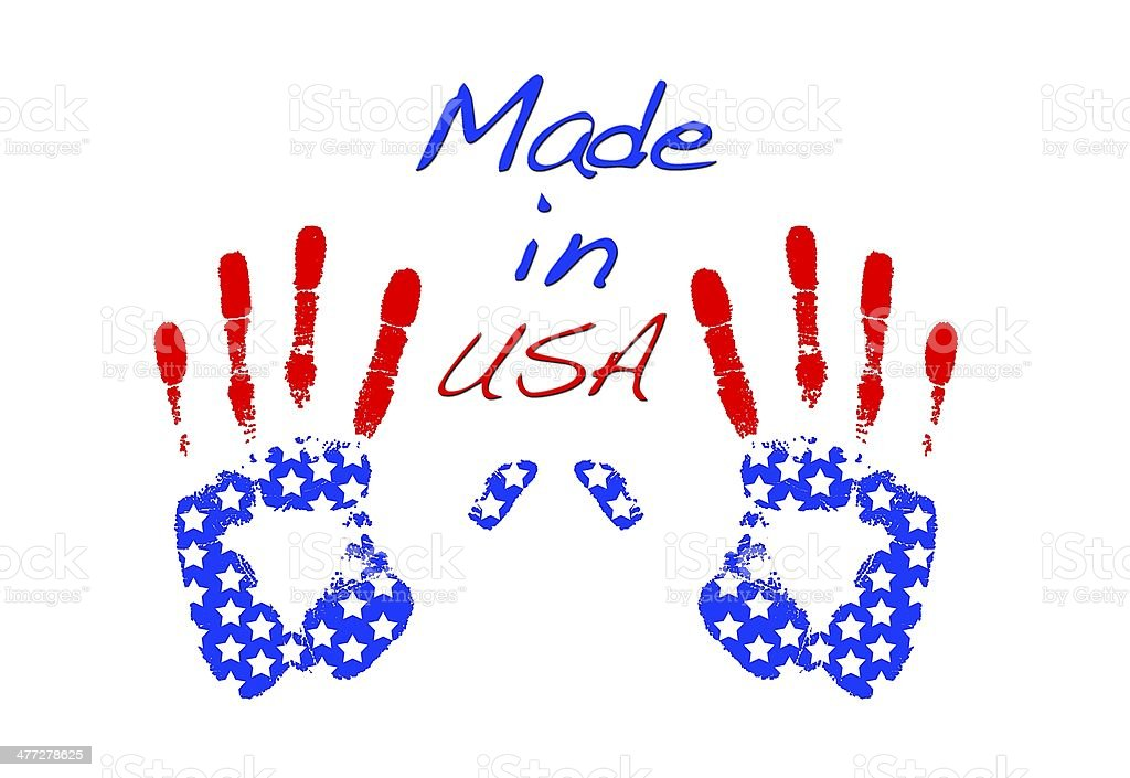 Made in Usa. royalty-free stock photo