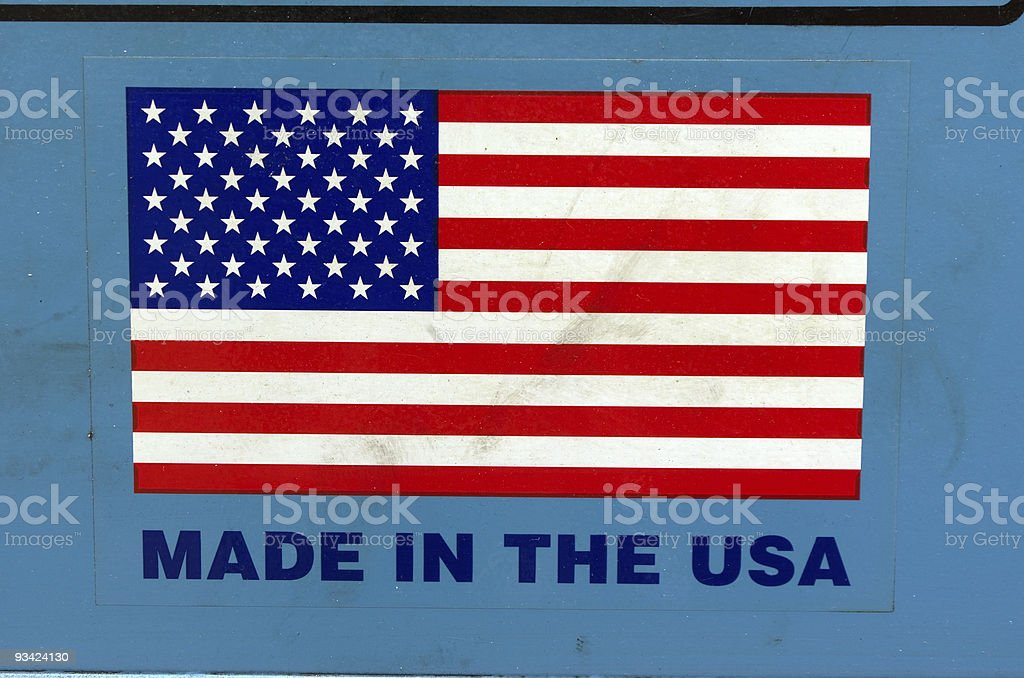 Made in USA stock photo