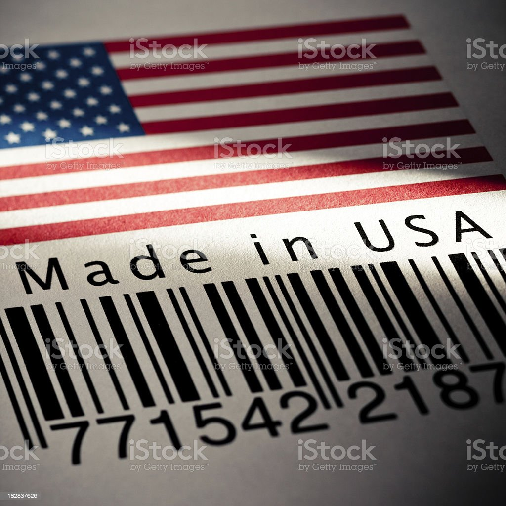 Made in USA product's barcode royalty-free stock photo