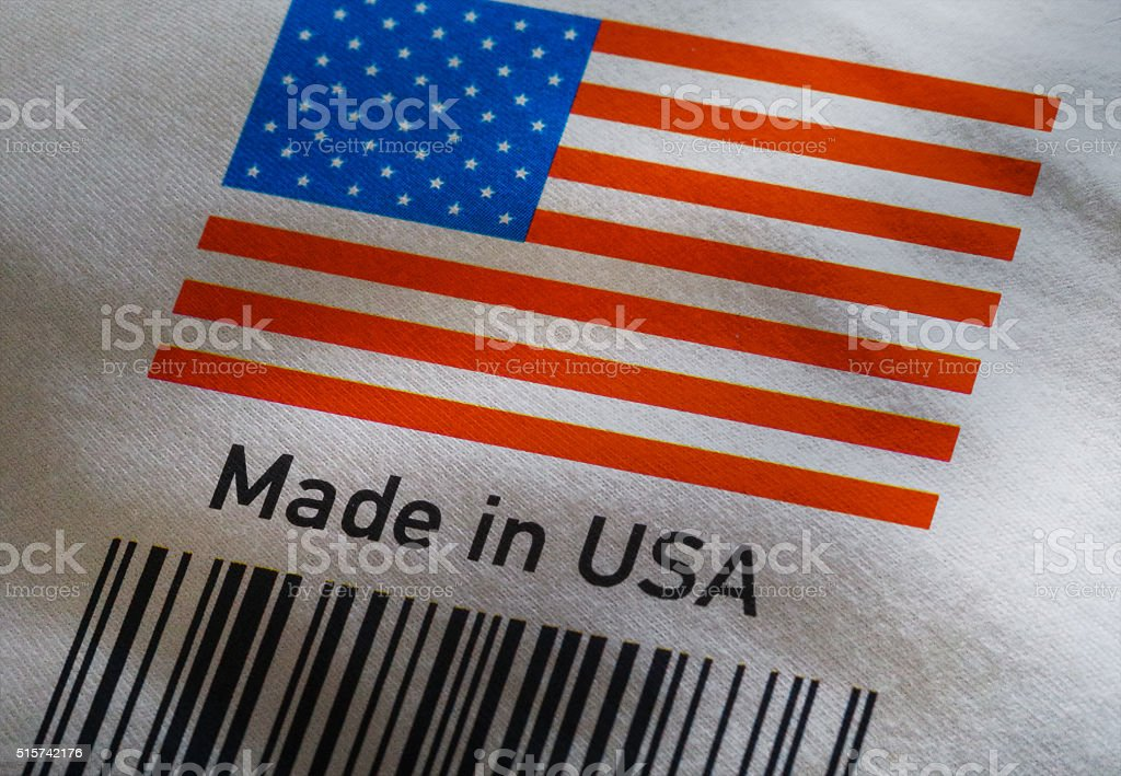 Made in USA product's barcode stock photo