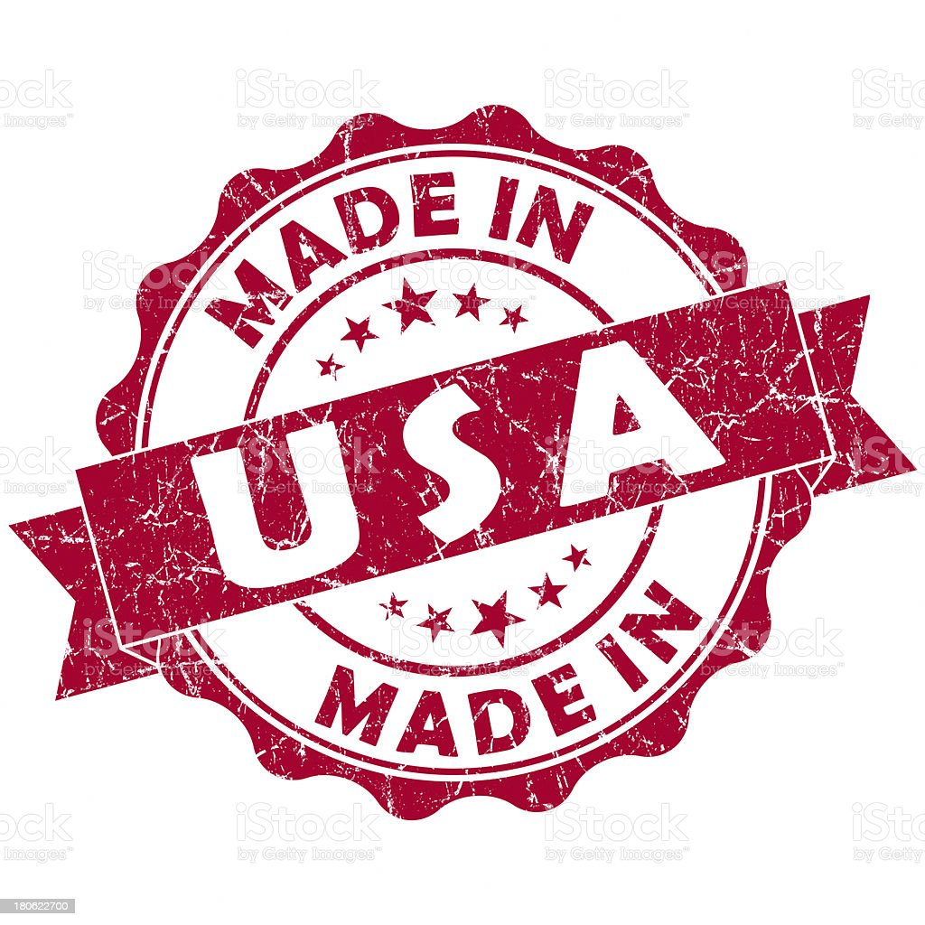 made in usa red stamp royalty-free stock vector art