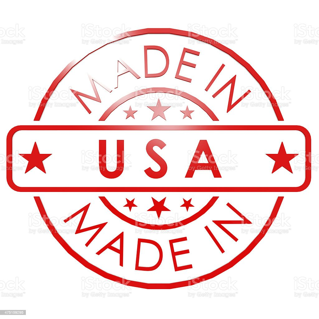 Made in USA stamp stock photo