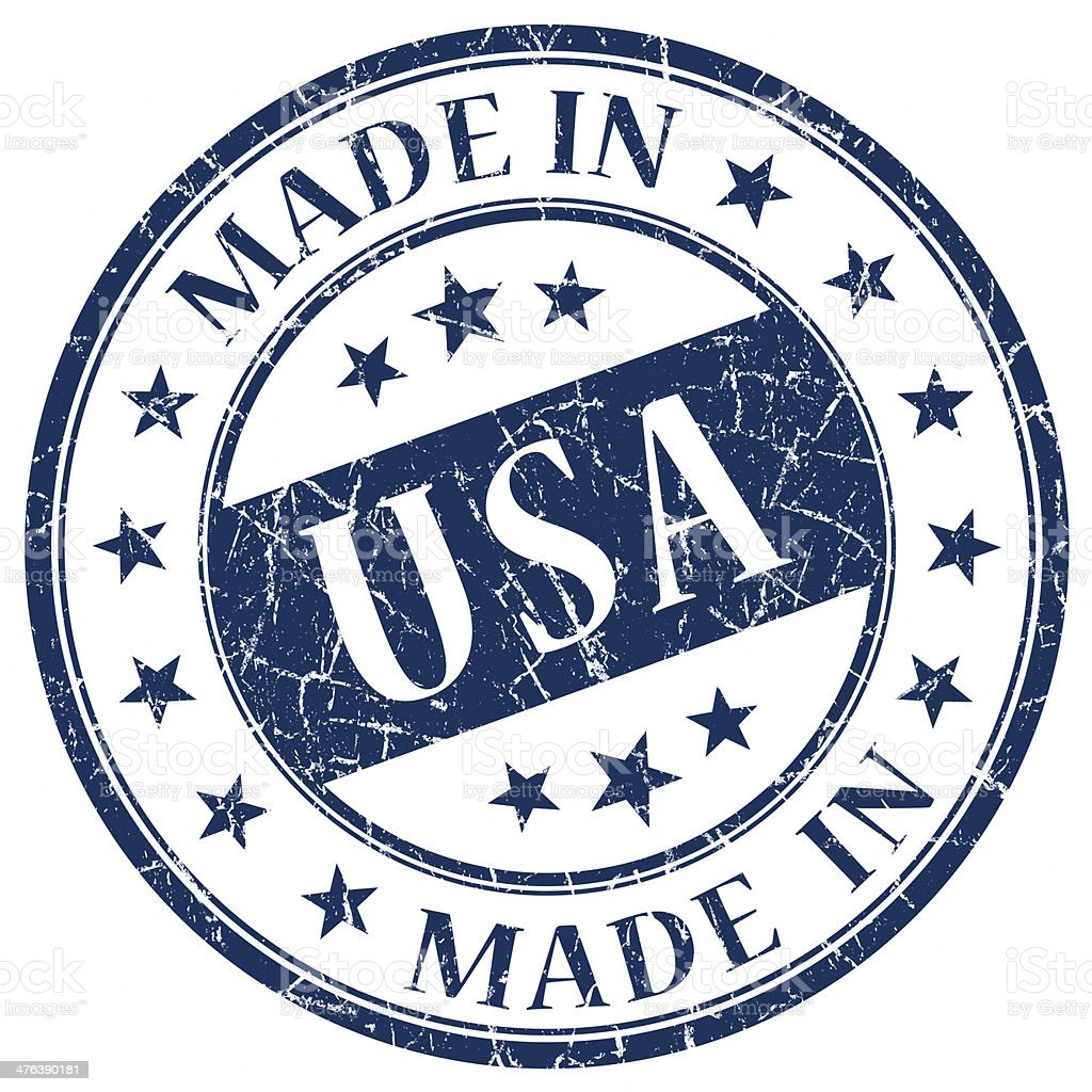 made in usa stamp royalty-free stock photo